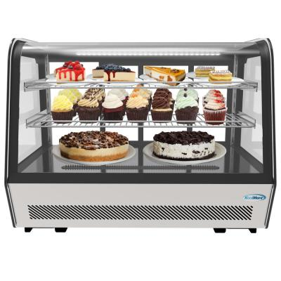 35 in. W 5.6 cu. ft. Commercial Countertop Refrigerator Display Case in Stainless Steel