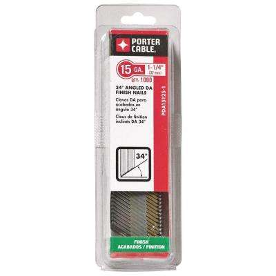15-Gauge x 1-1/4 in. Bright Steel DA Nail (1000 per Pack)