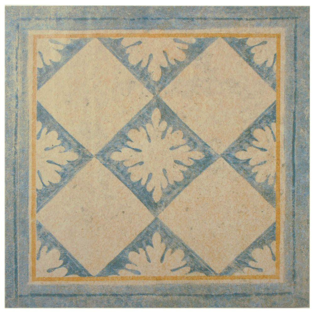 Merola Tile Abadia Blanco Taco 6-1/2 in. x 6-1/2 in. Porcelain Floor and Wall Trim Tile