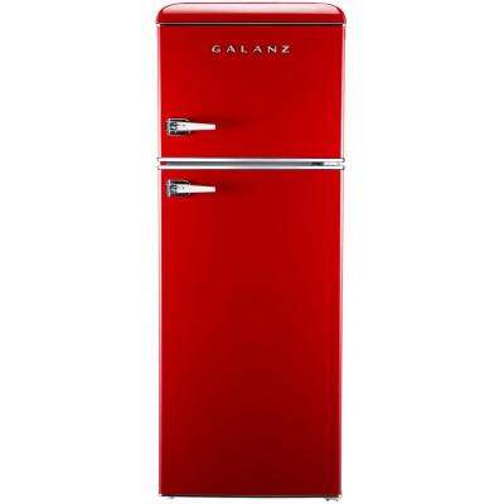 7.6 cu. ft. Mini Retro Refrigerator in Red