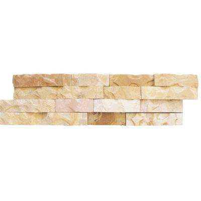 Fossil Rustic Ledger Panel 6 in. x 24 in. Natural Sandstone Wall Tile (10 cases / 40 sq. ft. / pallet)