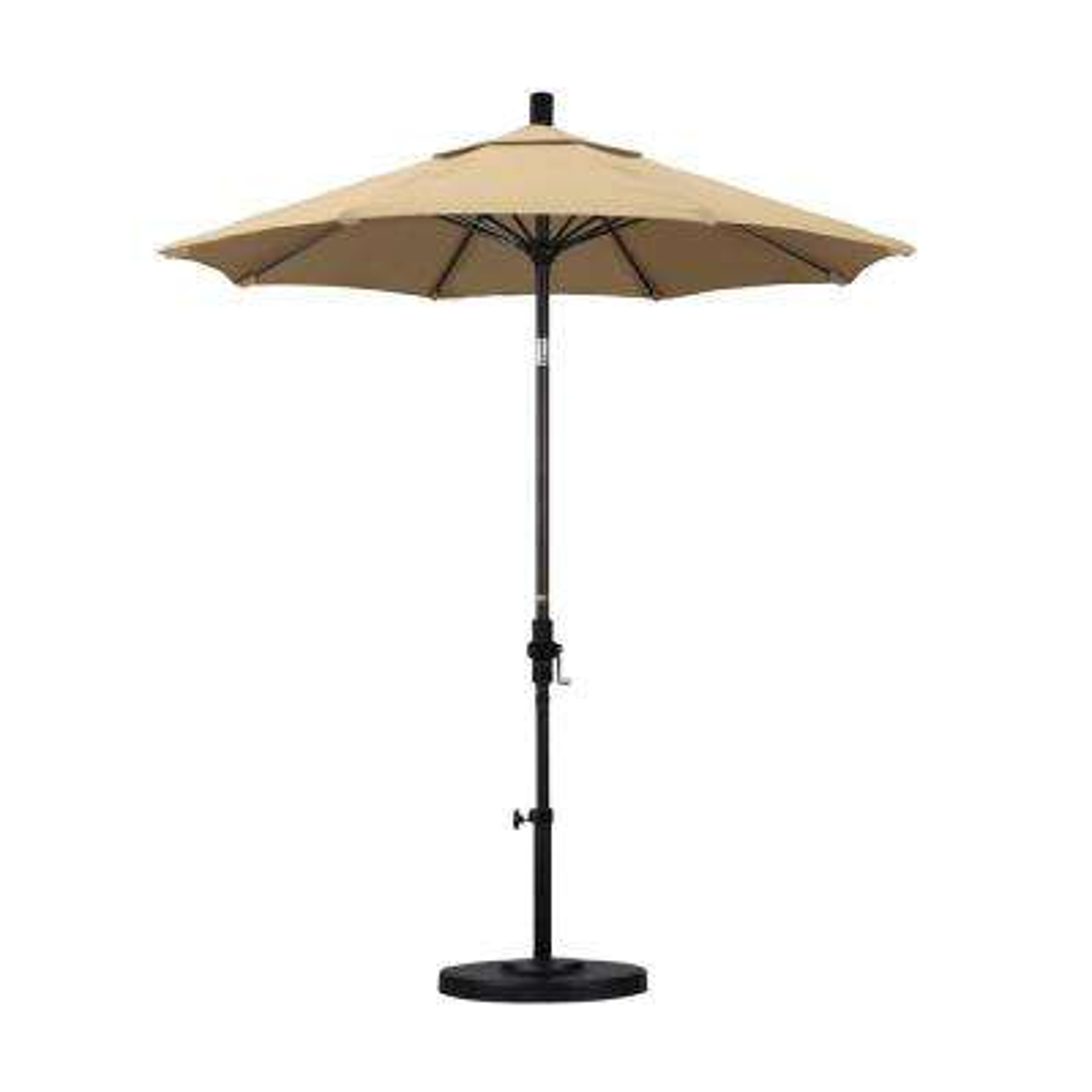 7-1/2 ft. Fiberglass Collar Tilt Patio Umbrella in Antique Beige Olefin