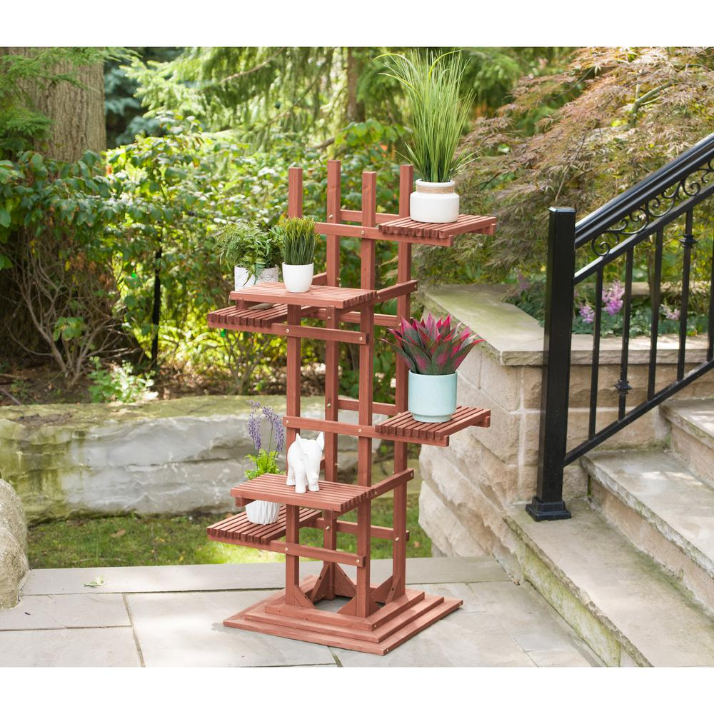 H 6 Tier Wooden Pedestal