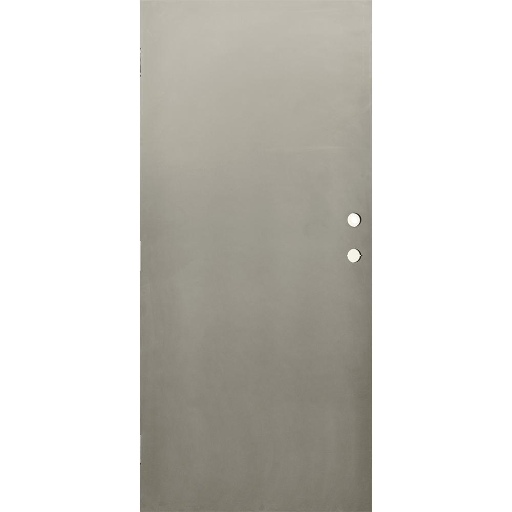 Charming Krosswood Doors 36 In. X 84 In. DKS Flush Primed Gray Steel Commercial Door