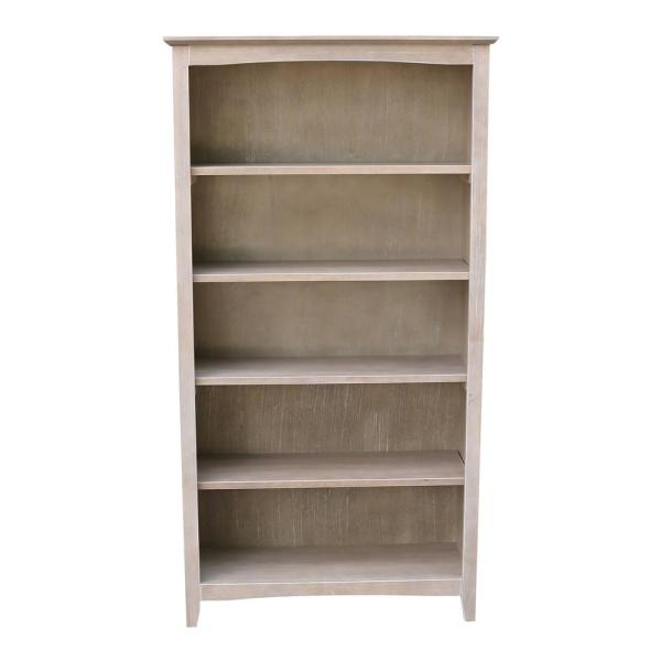 International Concepts Brooklyn 60 in. H Weathered Taupe Gray Bookcase