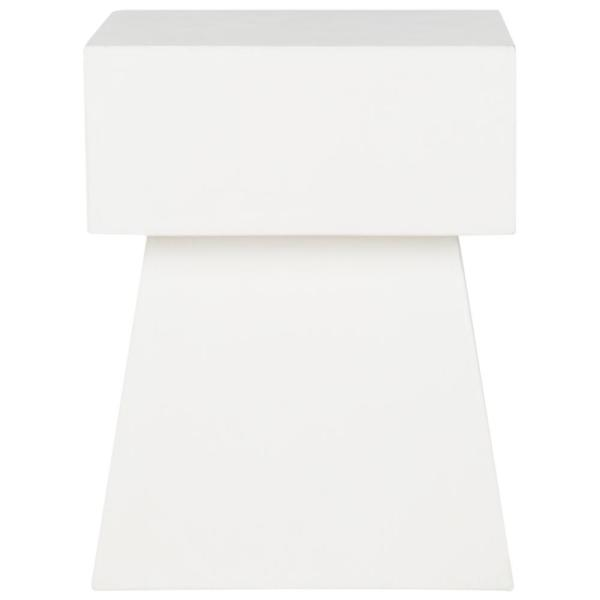 Zen Ivory Square Stone Indoor/Outdoor Accent Table
