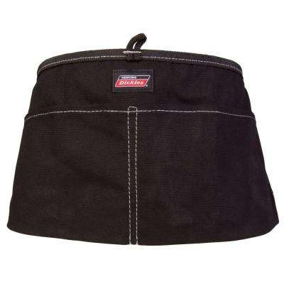 2-Pocket Light-Weight Canvas Tool / Work Apron, Black