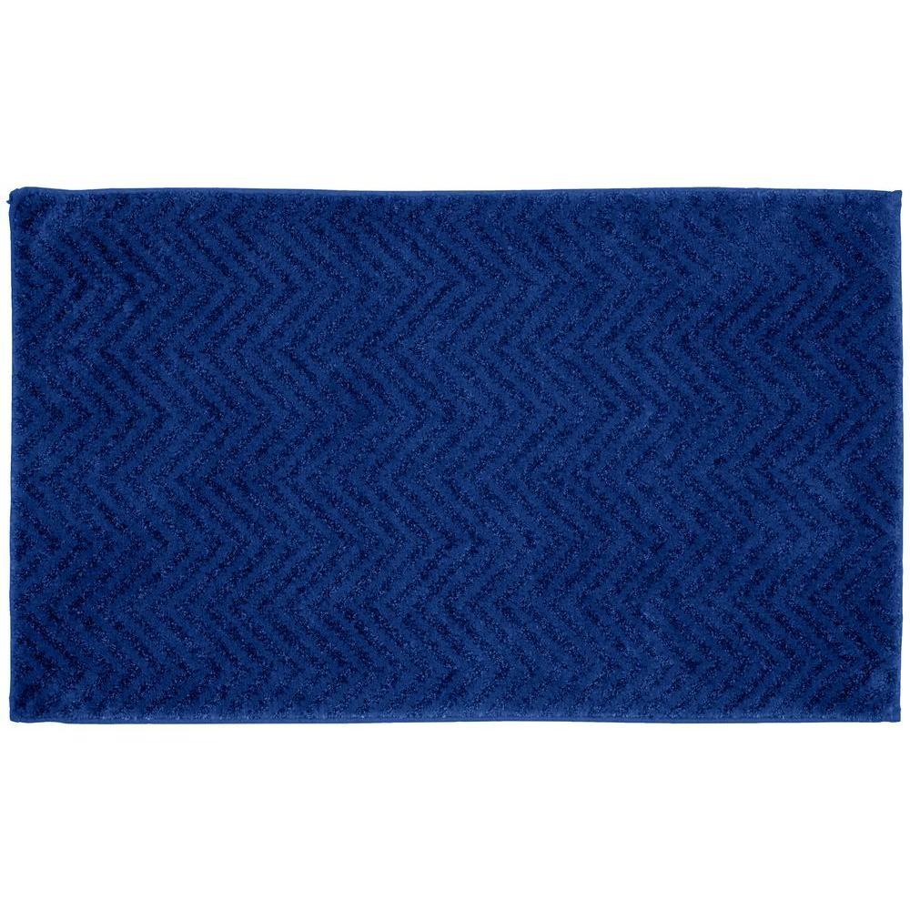 90ca754e6c8 Garland Rug Palazzo Indigo Blue 21 in. x 34 in. Bath Rug ...