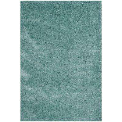 California Shag Light Blue 8 ft. x 10 ft. Area Rug
