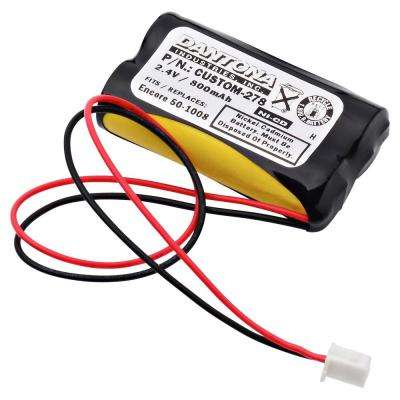Dantona 2.4-Volt 600 mAh Ni-Cd battery for Encore - 50-1008 Emergency Lighting