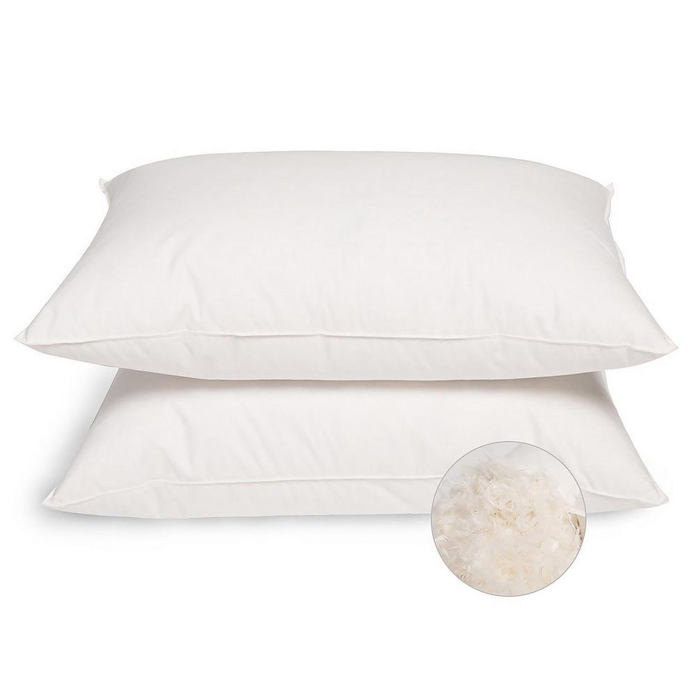 Peace nest firm white king goose down and feather pillows set of 2