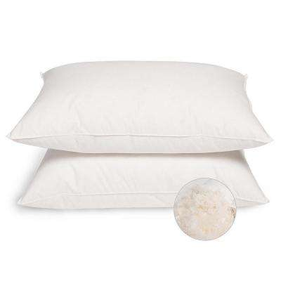 Firm White Goose Down and Feather Jumbo Pillows (Set of 2)