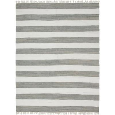 Lorelei Gray/Ivory 9 ft. x 12 ft. Striped Area Rug
