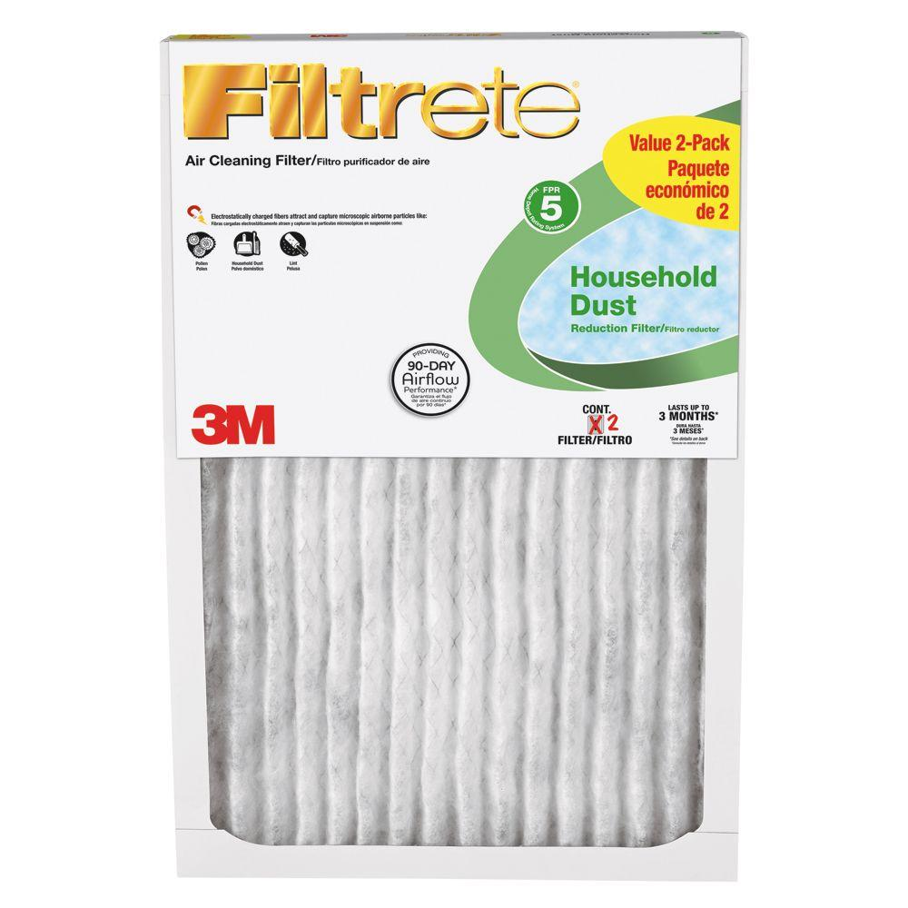 Filtrete 14 in. x 30 in. x 1 in. Household Dust Reduction FPR 5 Air Filters (2-Pack)-DISCONTINUED