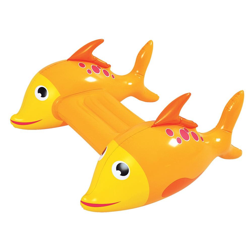 Adventurous Fish Inflatable Pool Kickboard - Orange Novelty Water Float for