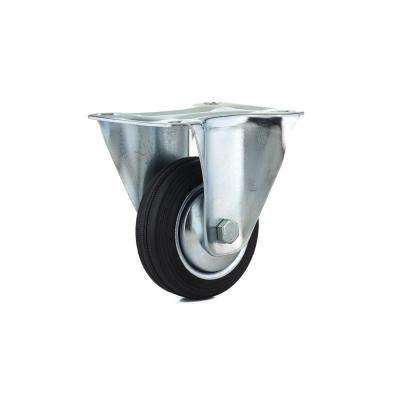 3-5/32 in. black Fixed plate Caster, 110.3 lb. Load Rating