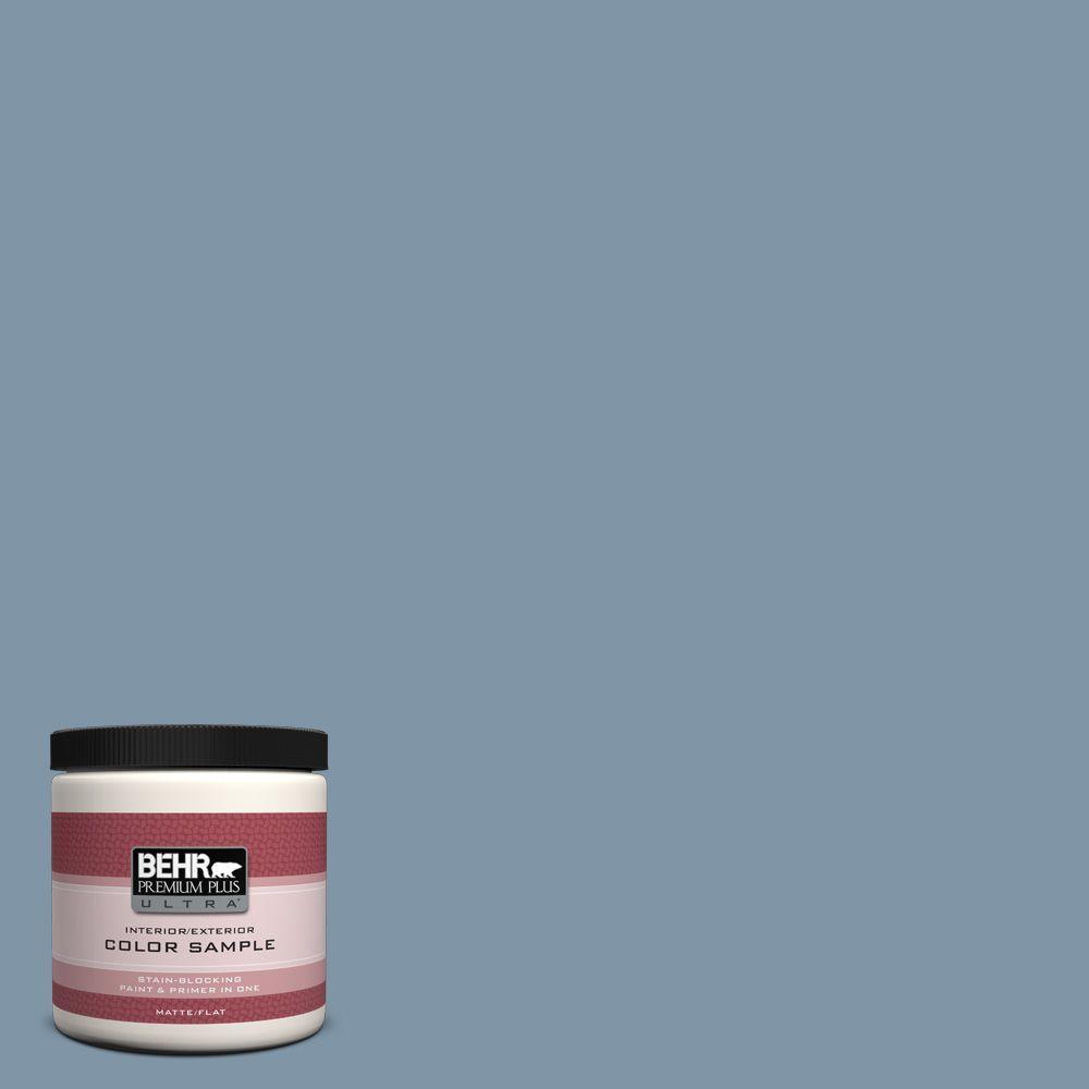 BEHR Premium Plus Ultra 8 oz. #560F-5 Bleached Denim Interior/Exterior Paint Sample