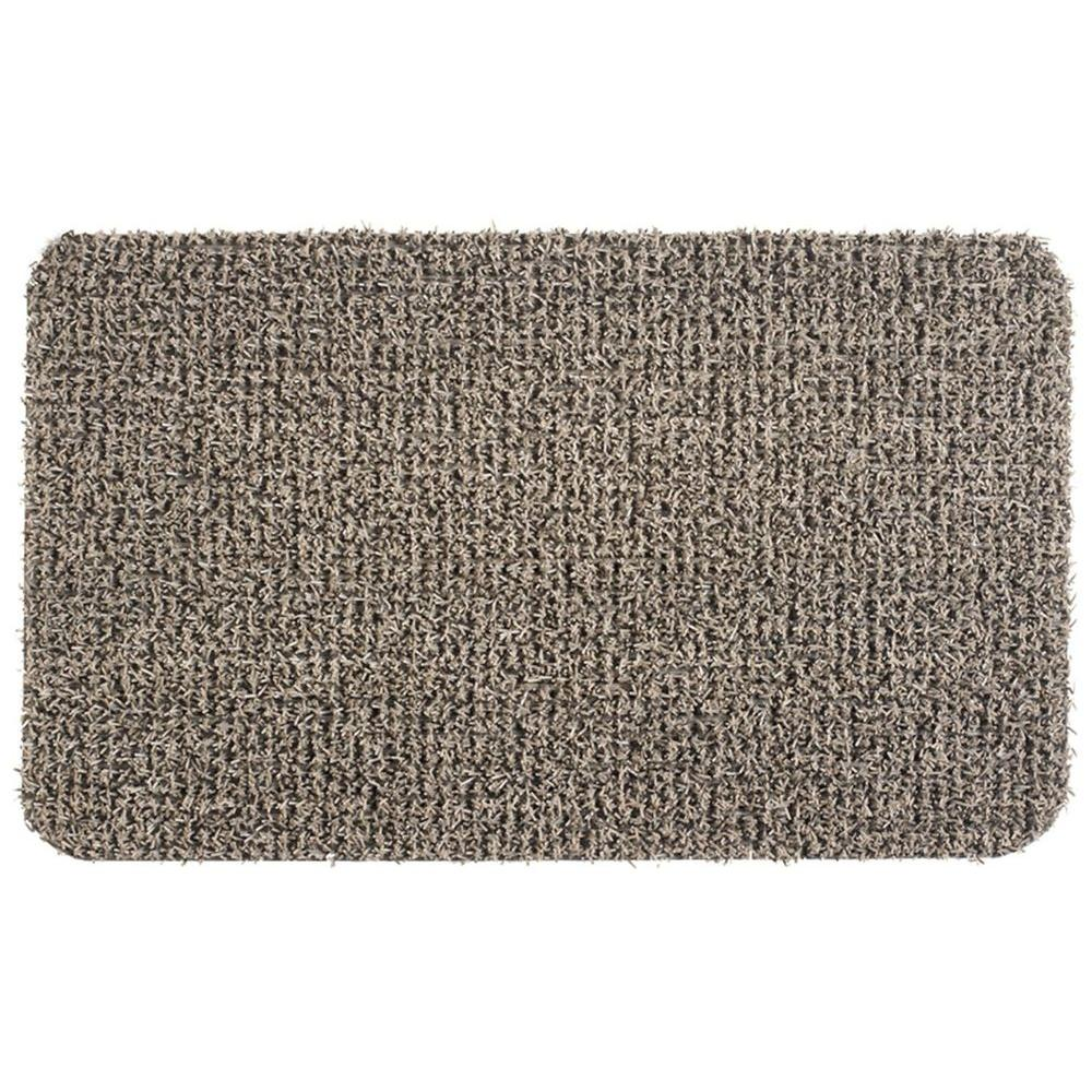 CleanMachine Clean Machine Flair Earth Taupe 24 in. x 36 in. Door Mat