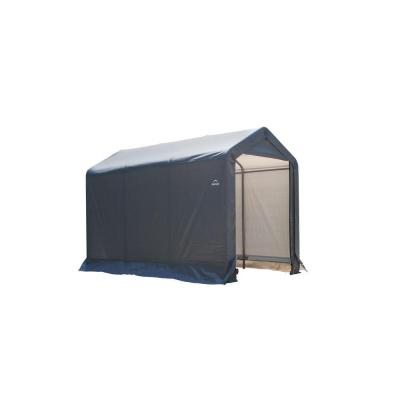 6 ft. W x 10 ft. D x 6 ft. H Peak-Style Steel Shed-In-A-Box Storage Shed in Grey with Patented Stabilizers
