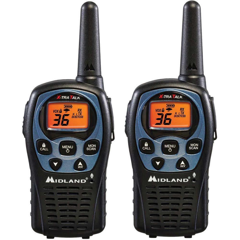 Midland 26-Mile 36 Channel 2-Way Radios - Black (2-Pack) by Midland