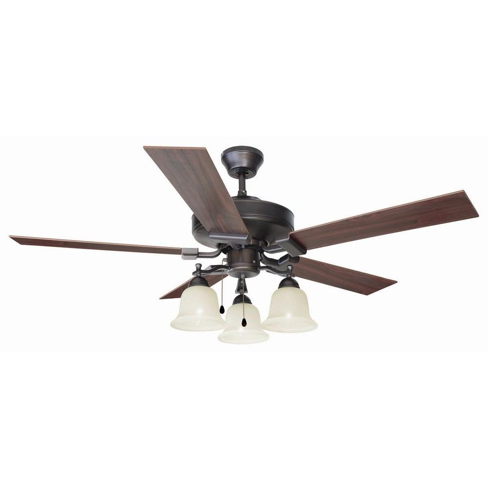 Design house ironwood 52 in brushed bronze ceiling fan 154112 brushed bronze ceiling fan 154112 the home depot aloadofball Image collections