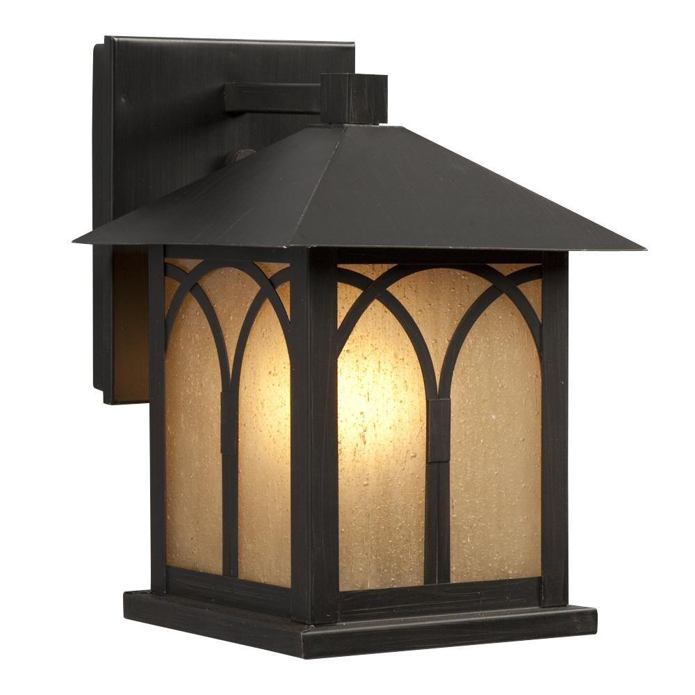 Negron 1-Light Oil Rubbed Bronze Outdoor Wall Lantern
