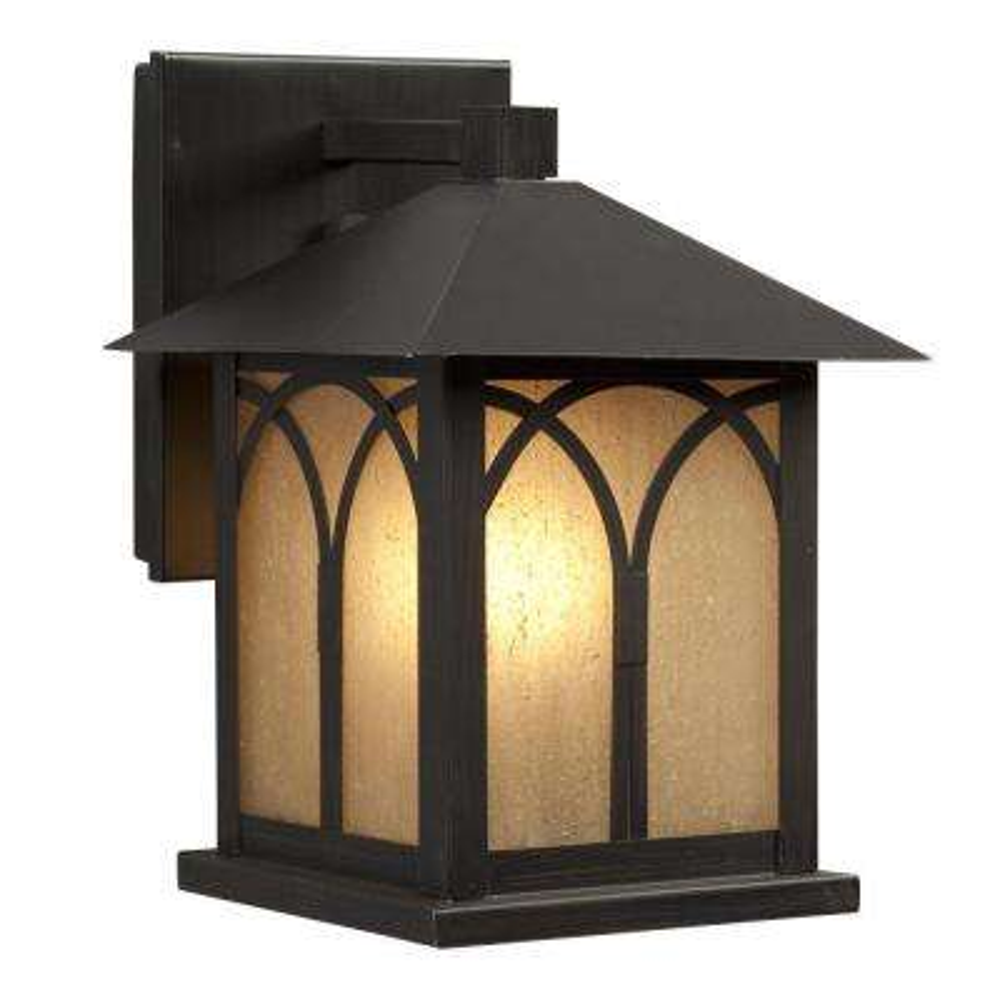 Negron 1-Light Oil Rubbed Bronze Outdoor Wall Lantern