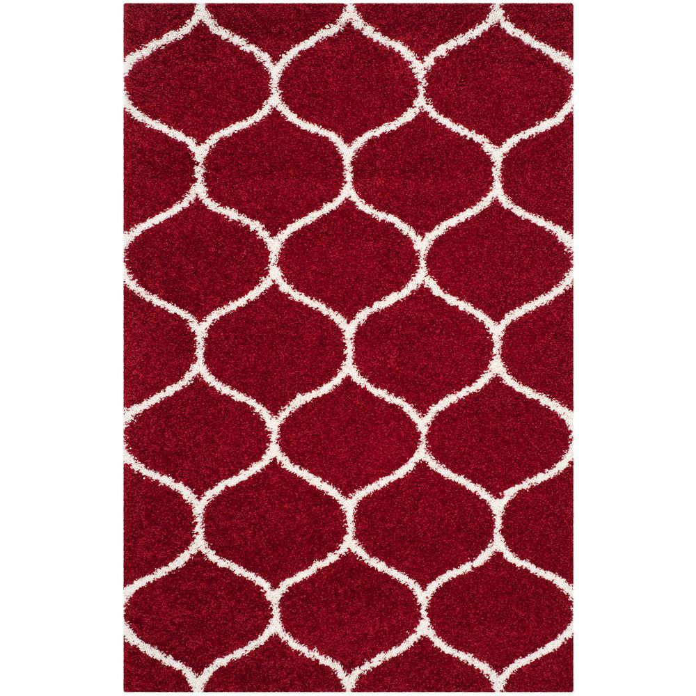 Hudson Red Ivory 4 Ft X 6 Area Rug