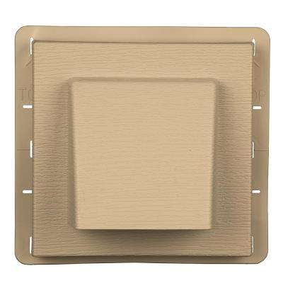 8 in. x 7.875 in. Water Management 4 in. Hooded Vent in Sandstone Maple