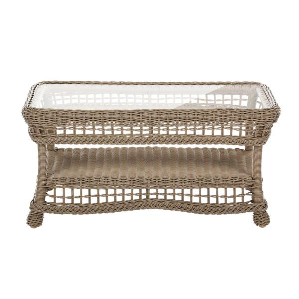 Saturn Collection Rectangular Wicker Outdoor Coffee Table