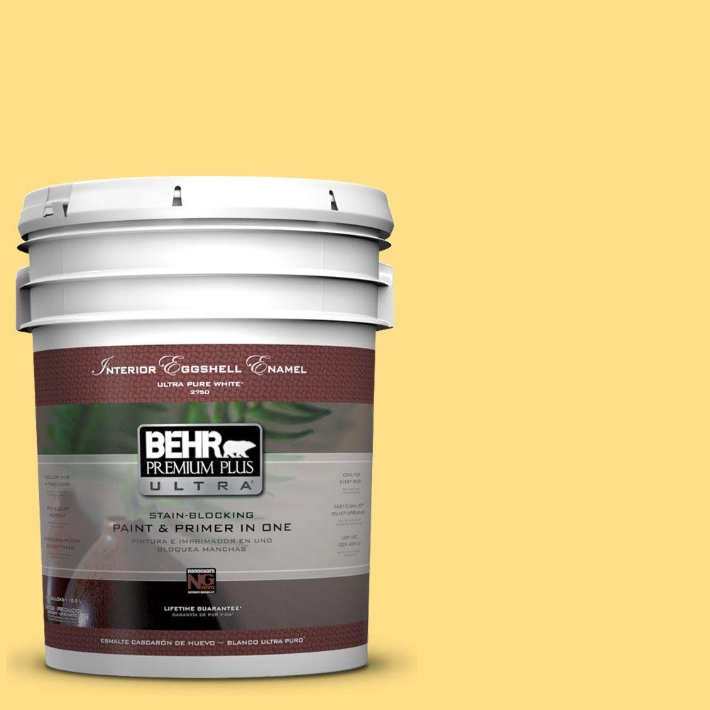 5 gal. #360B-4 Sweet Chamomile Eggshell Enamel Interior Paint and Primer