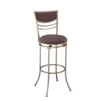 Amherst 24 in. Champagne and Charcoal Swivel Counter Stool