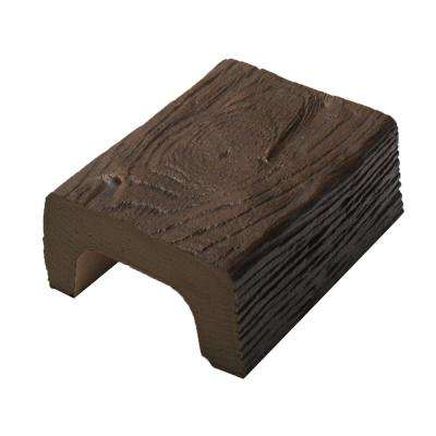 4-3/8 in. x 2-1/4 in. x 6 in. Long Faux Wood Beam Sample