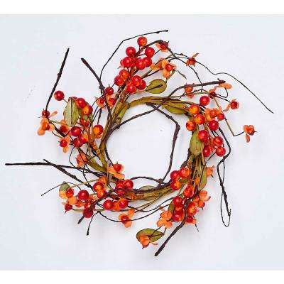 4.5 in. Fall Berry Candle Ring (2-Set)