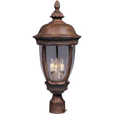 Knob Hill Die-Cast 3-Light Sienna Outdoor Pole/Post Mount