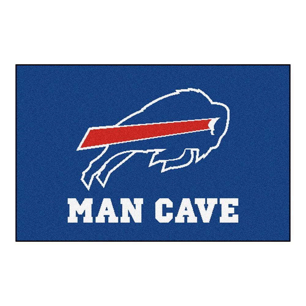 Fanmats Nfl Buffalo Bills Blue Man Cave 2 Ft X 3 Ft Area