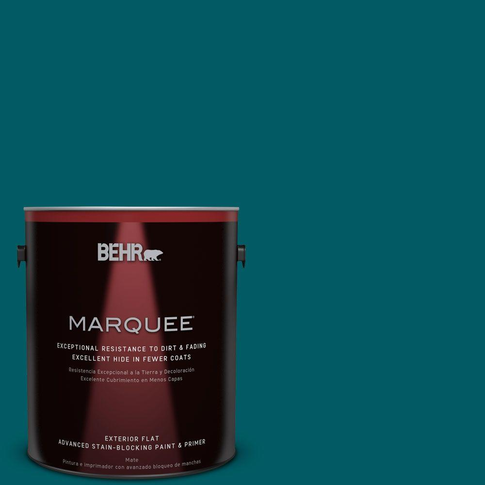 BEHR MARQUEE 1-gal. #S-H-530 Tropical Skies Flat Exterior Paint