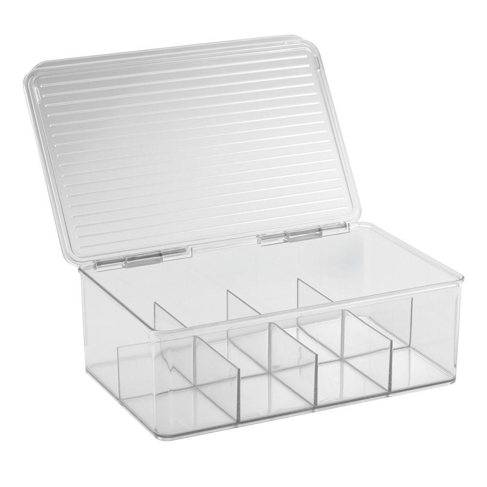 InterDesign Kitchen Binz Tea Box In Clear