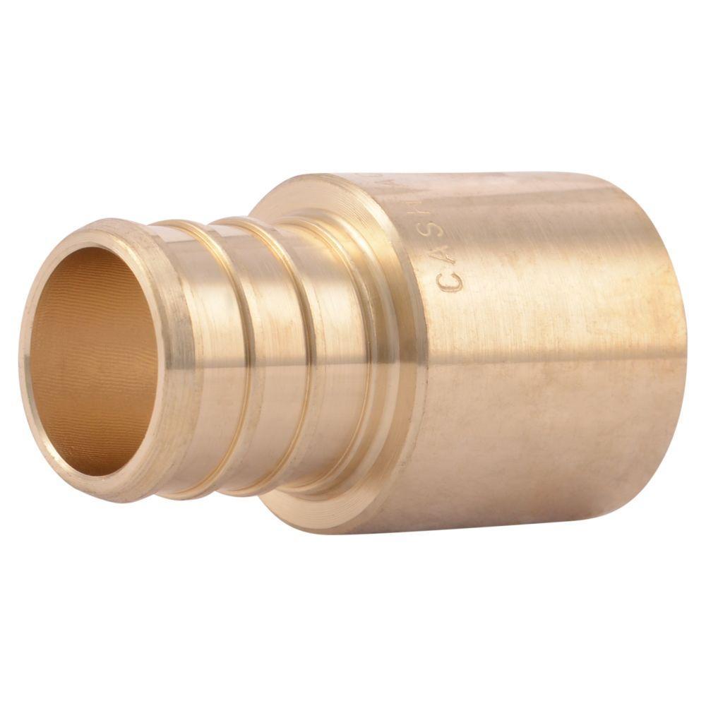 null 3/4 in. Brass PEX Barb x Male Copper Sweat Adapter
