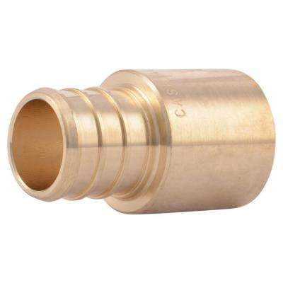 3/4 in. PEX Barb x Male Copper Sweat Brass Adapter Fitting
