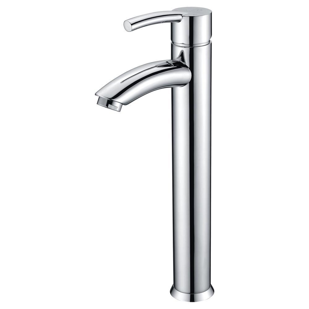 Quartet Single Hole Single-Handle Bathroom Faucet in Polished Chrome