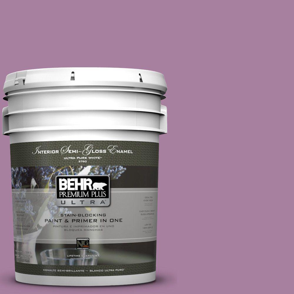 BEHR Premium Plus Ultra 5-gal. #M110-5 Amazonian Orchid Semi-Gloss Enamel Interior Paint