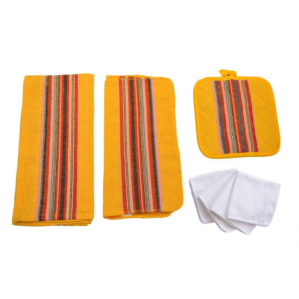 Sierra Kitchen Towel Set in Gold (8-Piece)