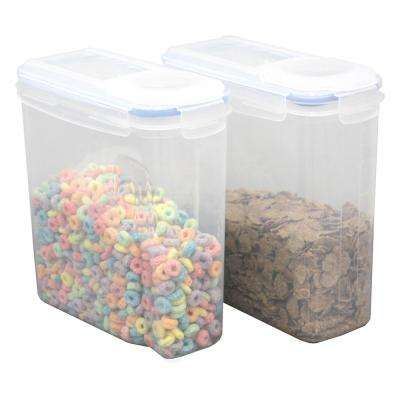 Small BPA-Free Plastic Food Containers with Airtight Spout Lid (Set of 2)