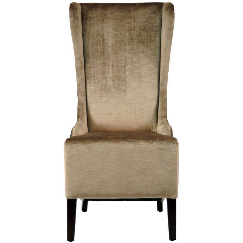 Superior Safavieh Bacall Dark Champagne Cotton Dining Chair