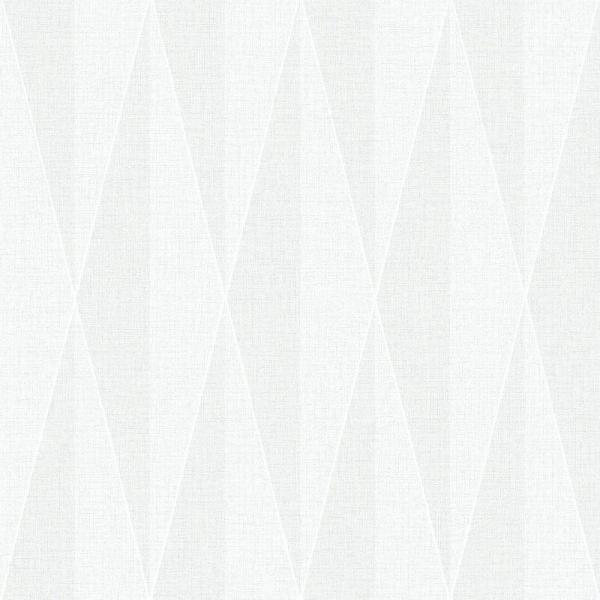 Brewster White Diamond Geometric Wallpaper WV6082