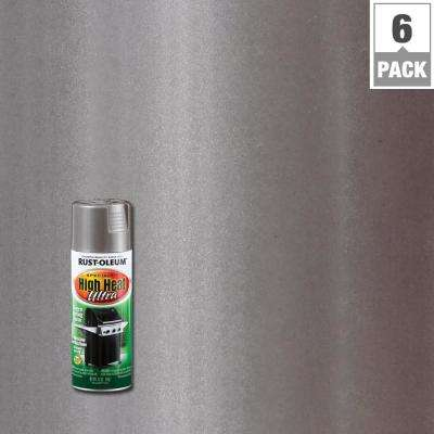 12 oz. Silver High Heat Ultra Spray Paint (6-Pack)
