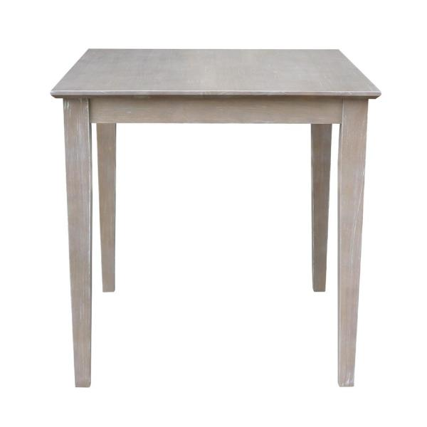 International Concepts 30 in. Weathered Taupe Gray Solid Wood Shaker Dining