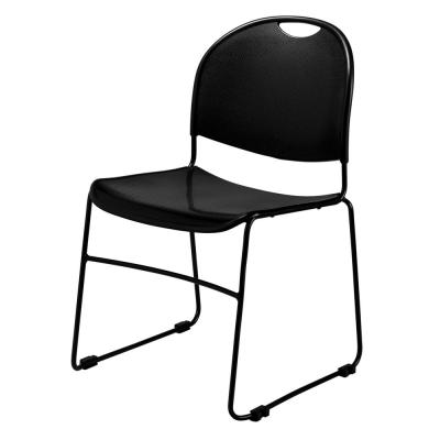Black Multi-purpose Ultra Compact Stack Chair (4-Pack)