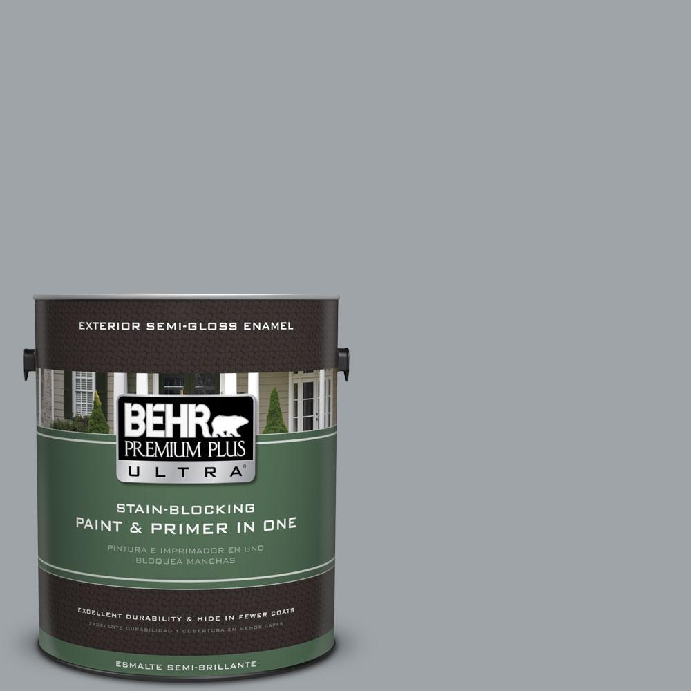 BEHR Premium Plus Ultra 1-gal. #N510-4 Supernova Semi-Gloss Enamel Exterior Paint